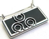 Circles - Stained glass pendant (868)