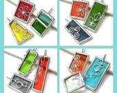 Lot of 3 - randomly picked stained glass pendants