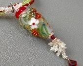 Kaylee's Wedding Necklace (Lampwork and Semi Precious Stone)
