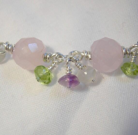 Sterling and Stone Pastel Bracelet