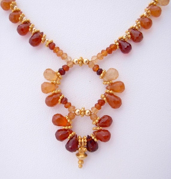 Earth Mother Hessonite Garnet And Vermeil Necklace