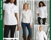 Simplicity 3684 - Misses' Shirts, Size U5 (16,18, 20, 22, 24)