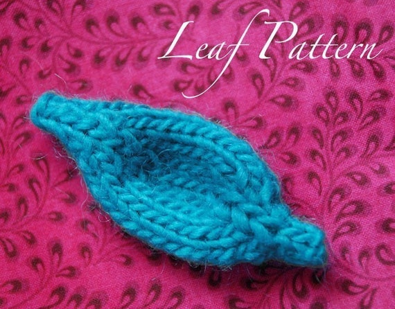 Knitted Leaf Pattern