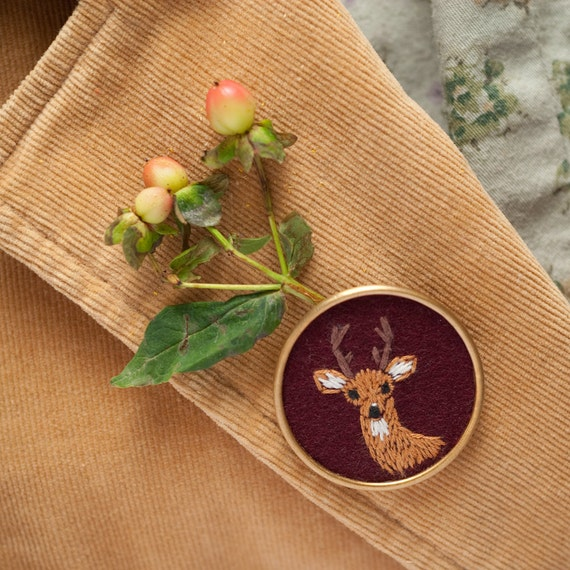 Reserved for Sonali - Deer Brooch and 1/2 custom payment