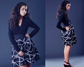 SALE New York Couture Long Sleeve Vintage CHAIN Print Dress