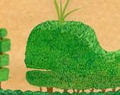 Whale Topiary print