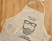 Behind Every Clever Girl is a Guy with a Beard and Glasses apron (second)