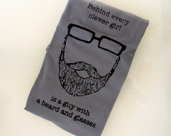 Behind Every Clever Girl is a Guy with a Beard and Glasses TSHIRT - DISCONTINUED (slate - men's S)