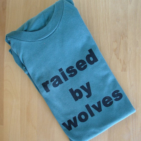 Raised by Wolves - adult tshirt (unisex XS - blue)