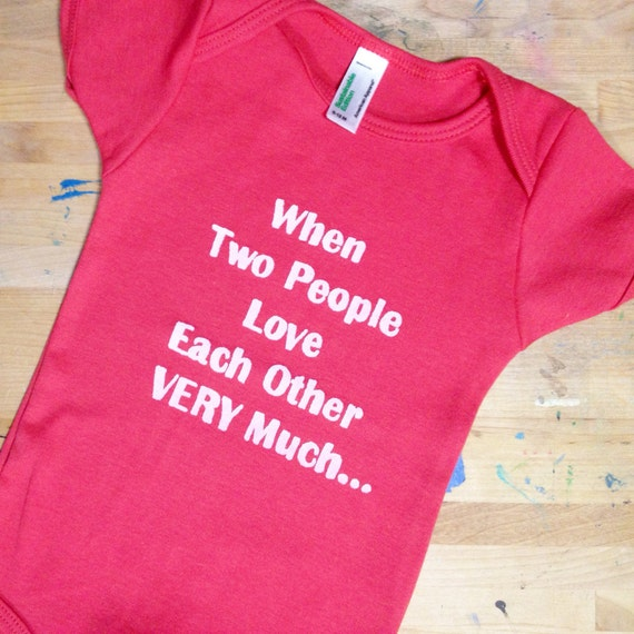Love Each Other When Two Souls: When Two People Love Each Other VERY Much Onesie 6-12 Months