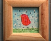 rainy bird painting