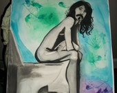 Zappa on the Crappa - 18x24 Watercolor Painting