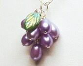 Darling Grapes Pendant - Purple
