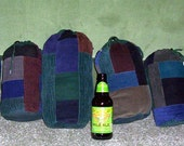 Hippie Patchwork STUFFED POUCHES 4 your glass LOT OF 6