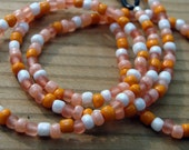 Handmade Eyeglass Chain - Orange Delight