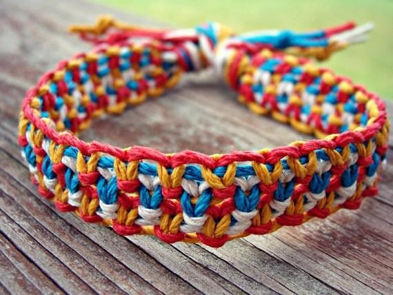 Multicolored  Woven Hemp Bracelet - 2