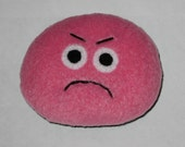 Grumpy Pink Pet Rock Plush