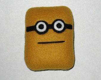 Hipster Tom Creature Plush With Nerd Glasses