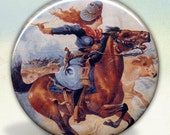 Galloping Cowgirl Pocket Mirror tartx