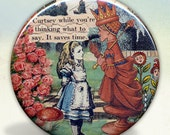 Alice and The Red Queen pocket mirror tartx