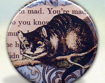The Cheshire Cat Pocket Mirror