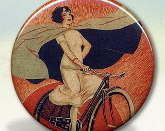 Onyx Bicycle Girl pocket mirror tartx