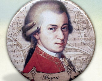 Mozart Classical Composer pocket mirror tartx