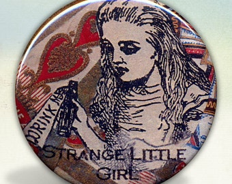 Alice Strange Little Girl pocket mirror tartx