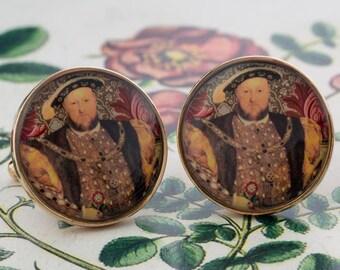 King Henry VIII Tudors Cufflinks