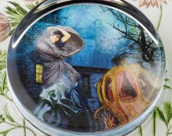 Cinderella Glass Round Paperweight tartx