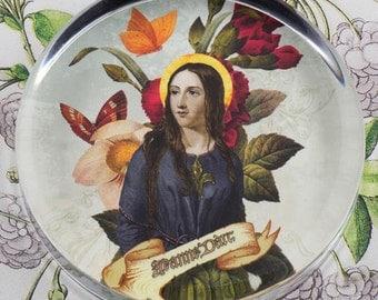 Jeanne d'Arc Joan of Arc Glass Round Paperweight tartx
