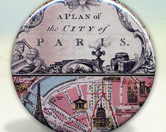 Paris Map A Plan of the City mirror tartx