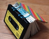 Cassette Tape Book - Frank Sinatra - Upcycled Black and Yellow - ooak ready to ship