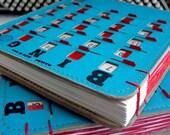 Vintage BINGO, Sketchbook, Journal, Wedding Guestbook, Scrapbook, Unique Gift, Blank Book