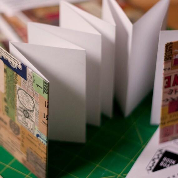 DIY Make Your Own Book Kit - Great for all ages - Vintage Label Design