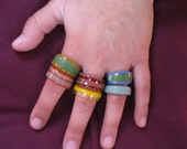 Glass Rings in many colors