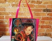 Culture Club record album duct tape tote