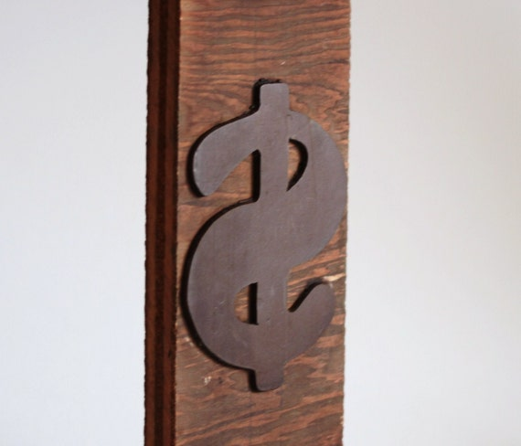 Vintage Wood Letterpress Type for Printing - HUGE 10 inch Dollar Sign