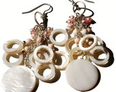 MOP Mother of Pearl Cluster Earrings from the Carmella Collection