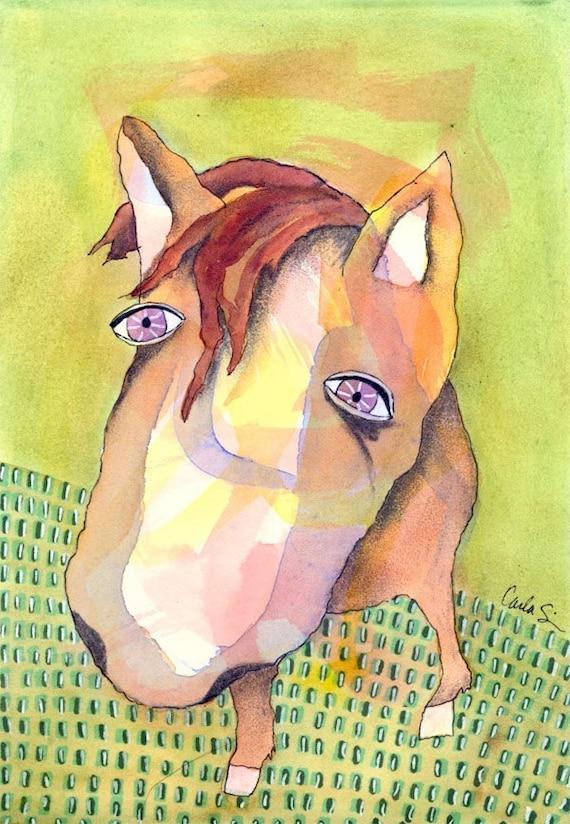 PRINT - Green Horse