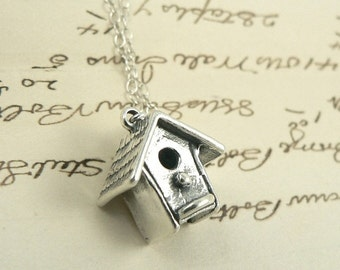 Birdhouse In Your Soul sterling silver necklace nature jewelry