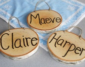 Hand Wood Burned Rustic Personalized Signs Childrens Names Rooms, Welcome