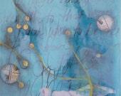 10 Dollar Art Sale- painting- innocence- modern botanical painting
