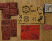 Lot of Rubber Stamps, Some mounted and some unmounted