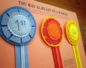 Winner Medal Ribbons - Set of three