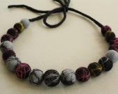 Lil' Baller Necklace - Black/Gray