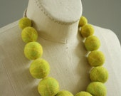 Big Baller Necklace - Gold on Chartreuse