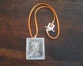 Vintage Stamp Pendant Necklace