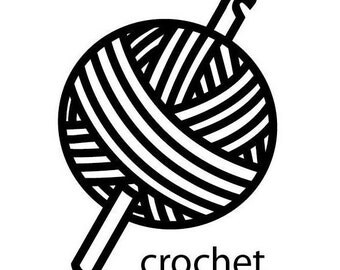 Crochet Vinyl Decal (sticker)