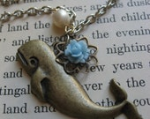 SALE - Lovely whale necklace